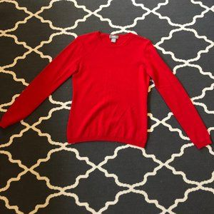 Red Neiman Marcus Cashmere Sweater Size Small